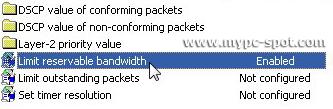 Opsi Limit Reservable Bandwidth