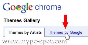 Tab Tema dari Google