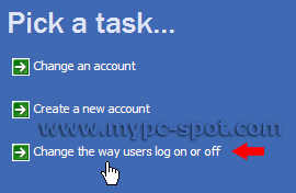 Change Log On and Off