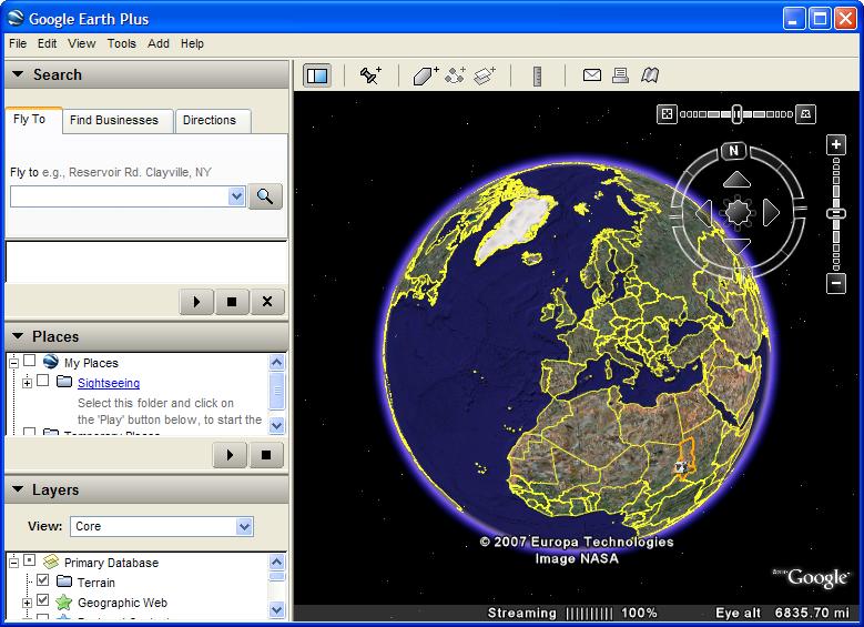 ���� ����� �� ����� [Portable Google Earth 6.0.0.1735] ��� 12 ���� ����