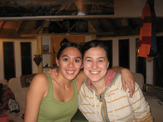 em and me in the tiki hut