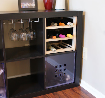 hutten wine storage in expedit unit ikea hackers