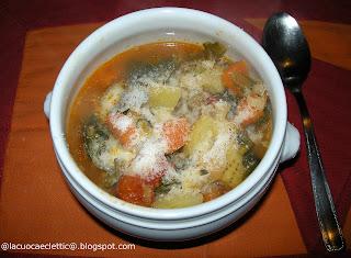 Zuppa di verdure con bietoline e spinaci