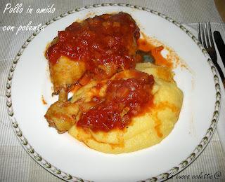 Pollo in umido con polenta