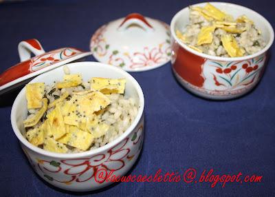 Risotto al tè verde Gyokuro Kansai