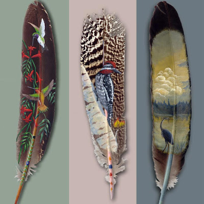 Native American Feather Painting