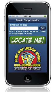 Comic Shop Locator app