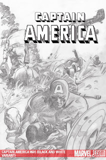Captain America #601 black-and-white cover