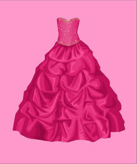 Vestito fuchsia come quello delle principesse spero