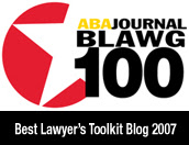 ABA Journal Blawg 100 Winner!