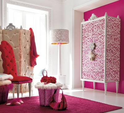 Charming and Opulent Pink Girls Room