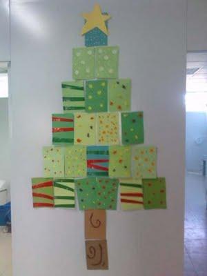 Trucos ingeniosos para tu dia a dia arbol de cartulina - Arbol navidad cartulina ...