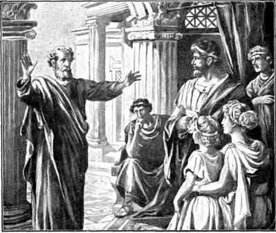 Actes d'Apotres, saint Pierre preche a Jerusalem