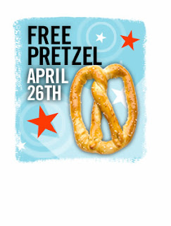 Pretzel Time Free Pretzel on April 26