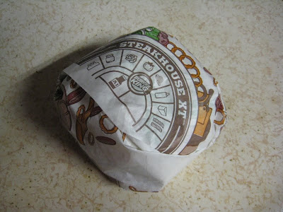 Burger King A.1. Steakhouse XT Burger in its wrapper