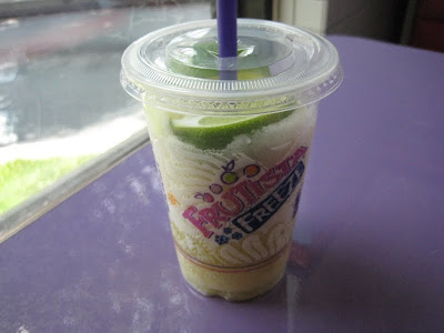 A better picture of the Taco Bell Classic Margarita Frutista Freeze