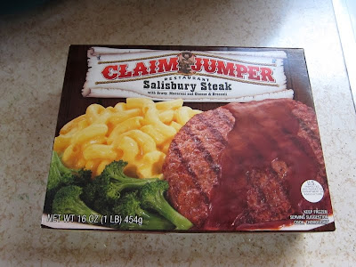 Claim Jumper's Salisbury Steak Dinner box