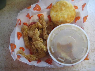 Popeyes Wicked Chicken with mashed potatoes and biscuit