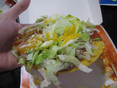 Taco Bell Tostada out of the box