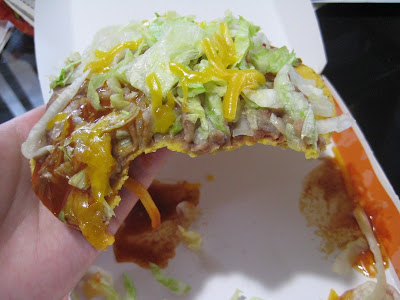 Taco Bell Tostada cross section