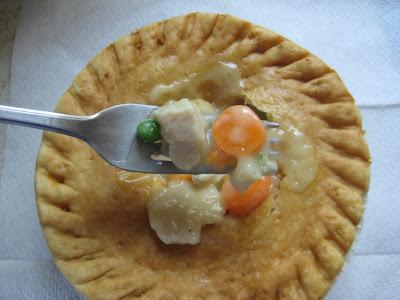 Marie Callender's Chicken Pot Pie forkful of stew
