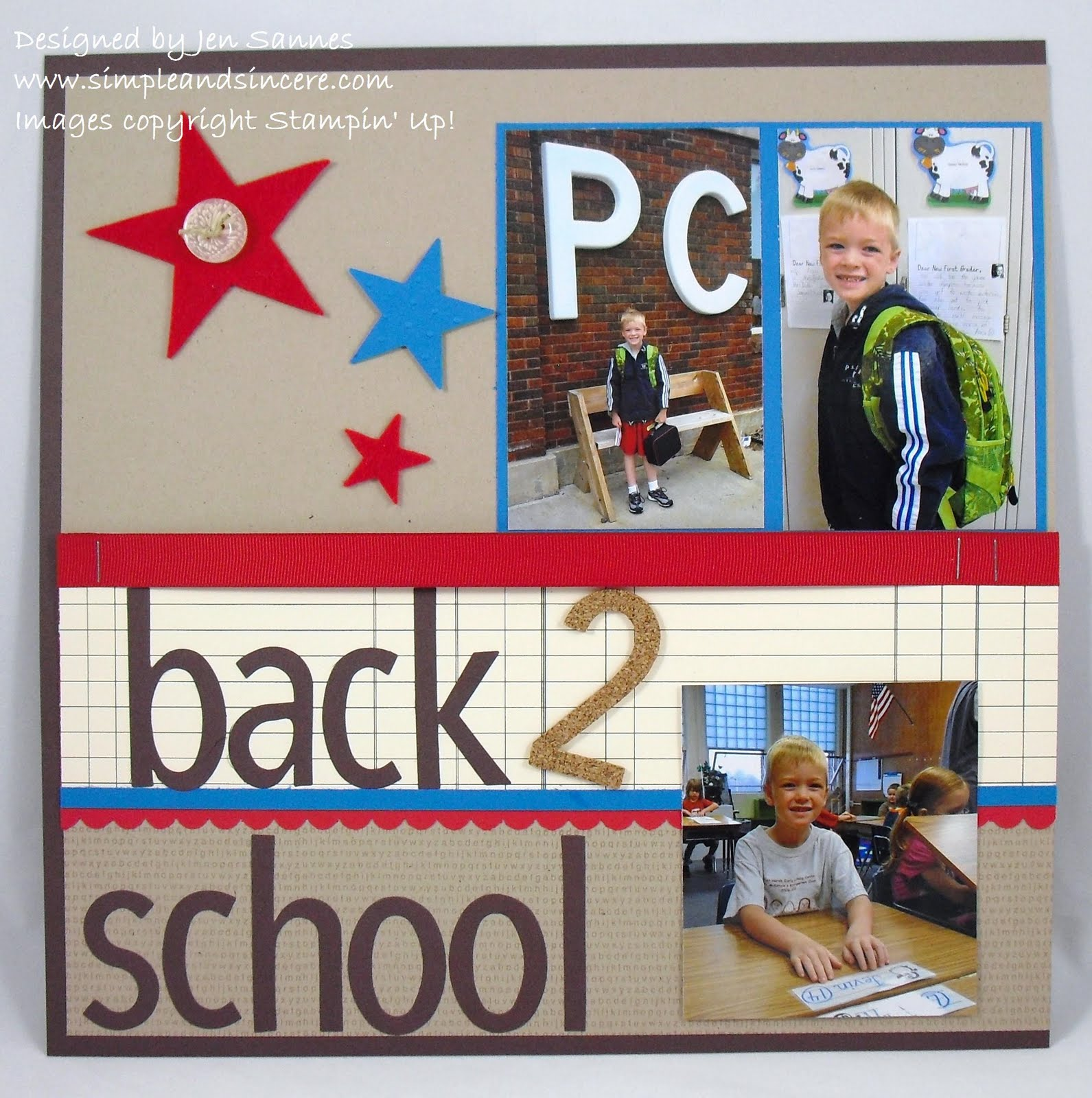 Scrapbook ideas school - I M Kicking Off My First Scrapbooking Class On Sunday And I M Really Excited This Is The 2 Page Layout That We Will Be Making With A Back To School