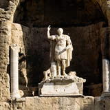 Statue of Augustus overlooking Roman Theatre at Orange