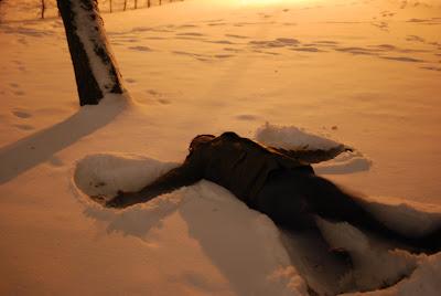 O anjo de neve
