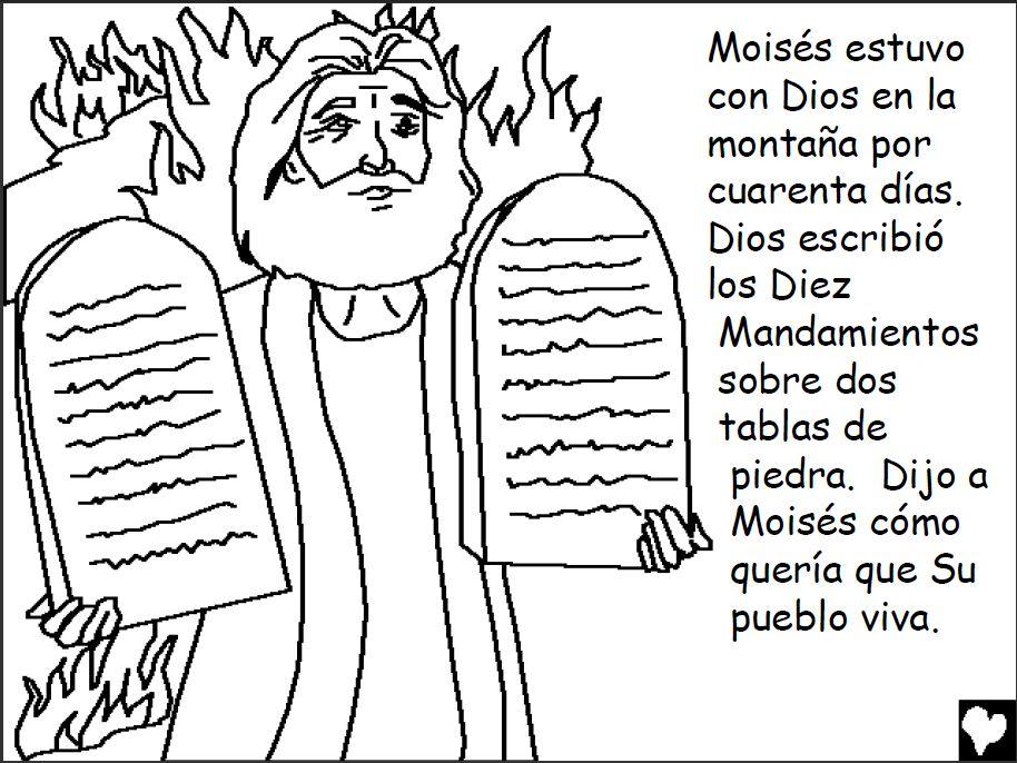 Magnífico Diez Mandamientos Para Colorear Hojas Motivo - Dibujos ...
