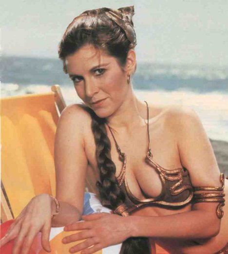 princess leia bikini carrie fisher. Fisher, who at that time was