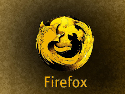 Firefox Gold Wallpaper