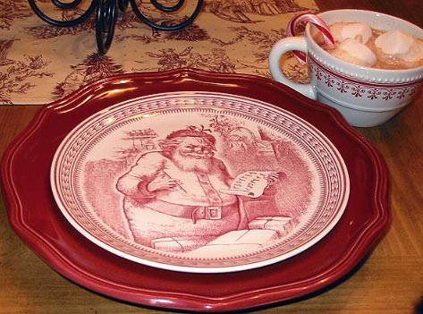 I also have some very pretty Christmas tree red transferware holiday dishes as well! & cutest little things: u0027Twas the Night Before Christmas dishes!
