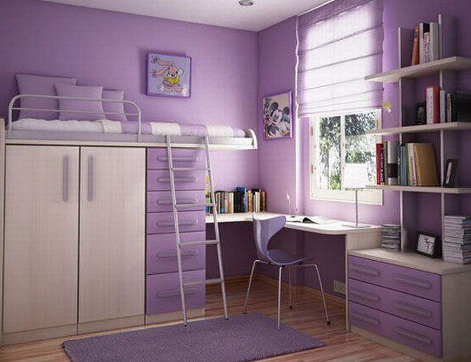 Purple Simple Room*