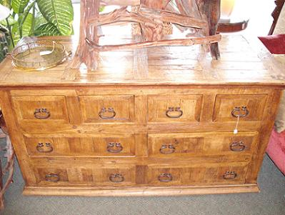 Quality Resale Home Furnishings Antique Mesquite Wood Chest Of Drawers