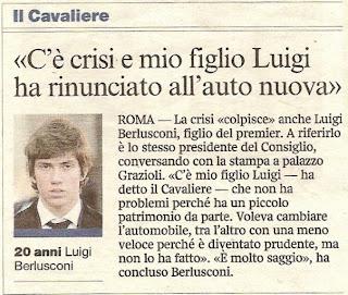 Luigi Berlusconi e la crisi economica