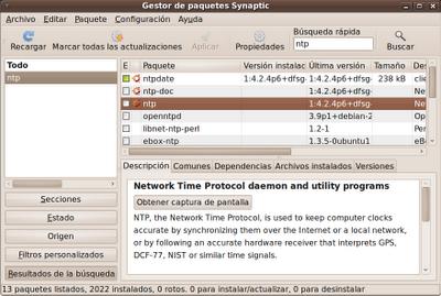 instalar servidor ntp: