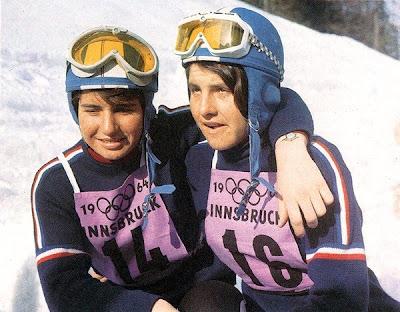 Marielle y Christine Goitschel - Innsbruck '64
