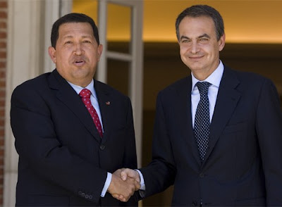 Hugo Chávez y Rodríguez Zapatero