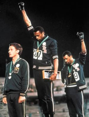 Tommie Smith, Peter Norman y John Carlos, México 1968