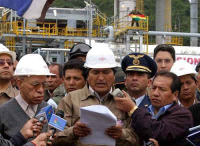 Evo Morales en Tarija, 1º de Mayo de 2006