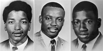 Orangeburg 1968 - Samuel Hammond, Delano Middleton y Henry Smith