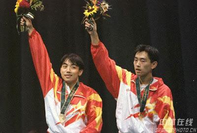 Atlanta 1996 - Liu Guoliang y Kong Linghui, campeones de dobles en tenis de mesa