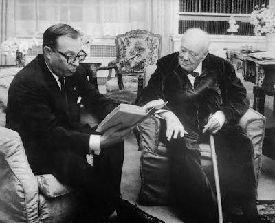 Carl Foreman y Winston Churchill