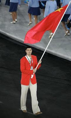 Atenas 2004 - Yao Ming, abanderado de la delegación china