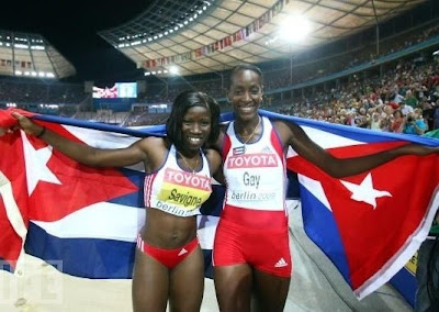 Yargelis Savigne y Mabel Gay, doblete cubano en triple salto