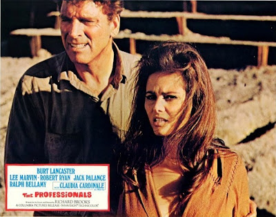 Burt Lancaster y Claudia Cardinale en Los Profesionales (1966)