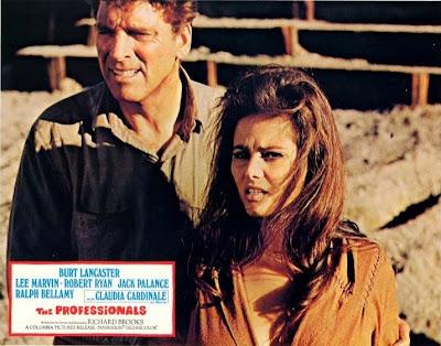 Burt Lancaster y Claudia Cardinale en Los Profesionales (1966)