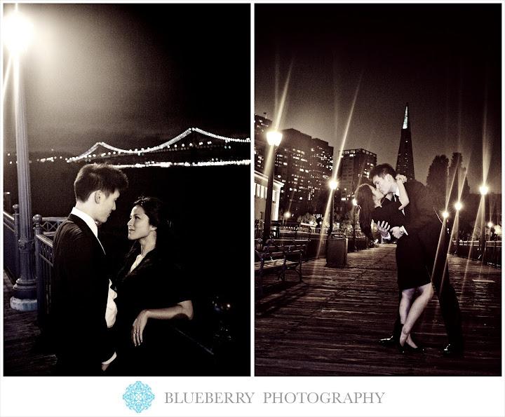 San Francisco artistic pier 7 engagement photographer