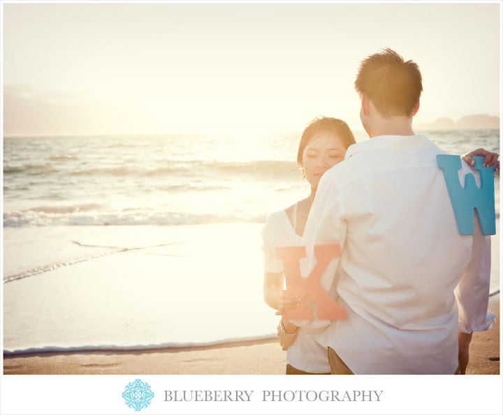 San Francisco artistic sunset engagement session