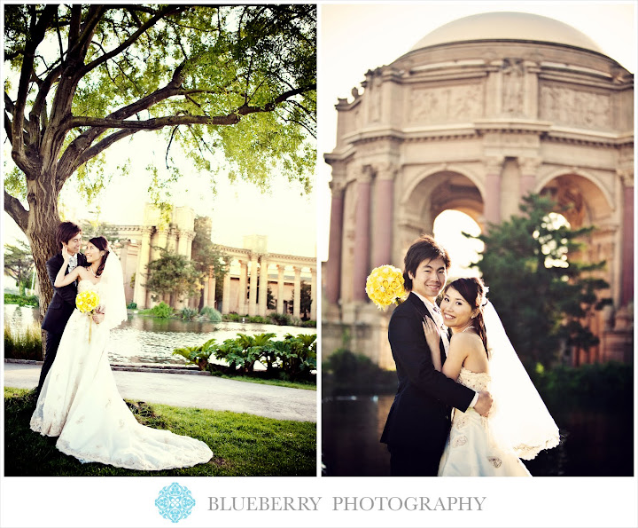 San Francisco bridal portrait at the palace of fine arts